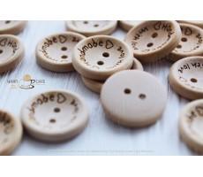 Ґудзики Handmade with love (дерево)