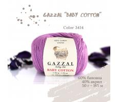 Gazzal Baby Cotton - 3414 фуксія