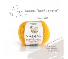 Gazzal Baby Cotton - 3417 жовтий