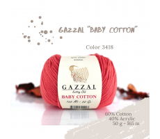 Gazzal Baby Cotton - 3418 кораловий