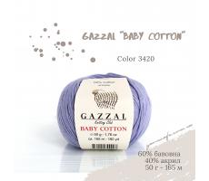 Gazzal Baby Cotton - 3420 бузковий