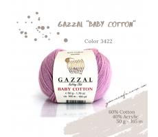 Gazzal Baby Cotton - 3422 лавандово-рожевий