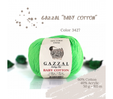 Gazzal Baby Cotton - 3427 салатовий неон