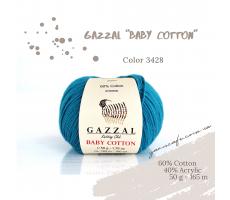Gazzal Baby Cotton - 3428 синя бірюза