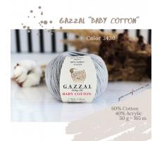 Gazzal Baby Cotton - 3430 сірий