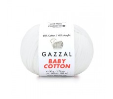 Gazzal Baby Cotton - 3432 білосніжний