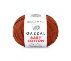 Gazzal Baby Cotton - 3453 теракотовий