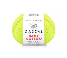Gazzal Baby Cotton - 3462 жовтий неон