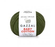 Gazzal Baby Cotton - 3463 хакі
