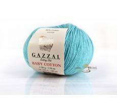 Gazzal Baby Cotton - 3451 ніжно-блакитний