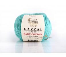 Gazzal Baby Cotton - 3452 світло-бірюзовий