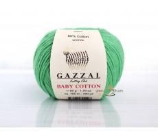 Gazzal Baby Cotton - 3466 зелена м`ята