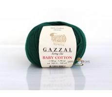 Gazzal Baby Cotton - 3467 темний смарагд