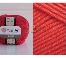 YarnArt JEANS - 26 червоний
