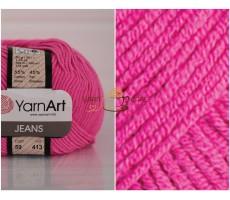 YarnArt JEANS - 59 яскраво-рожевий