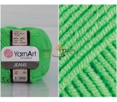 YarnArt JEANS - 60 зелений неон
