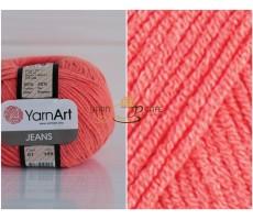 YarnArt JEANS - 61 оранжевий неон