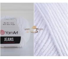 YarnArt JEANS - 62 білосніжний