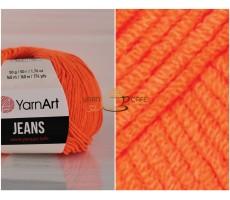 YarnArt JEANS - 77 яскраво-оранжевий