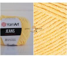 YarnArt JEANS - 88 лимонний
